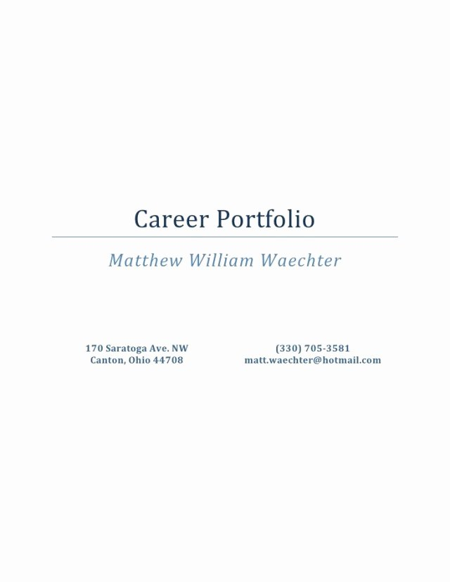 Portfolio Cover Page Template Best Of Portfolio Cover Page Template Free Download Aashe