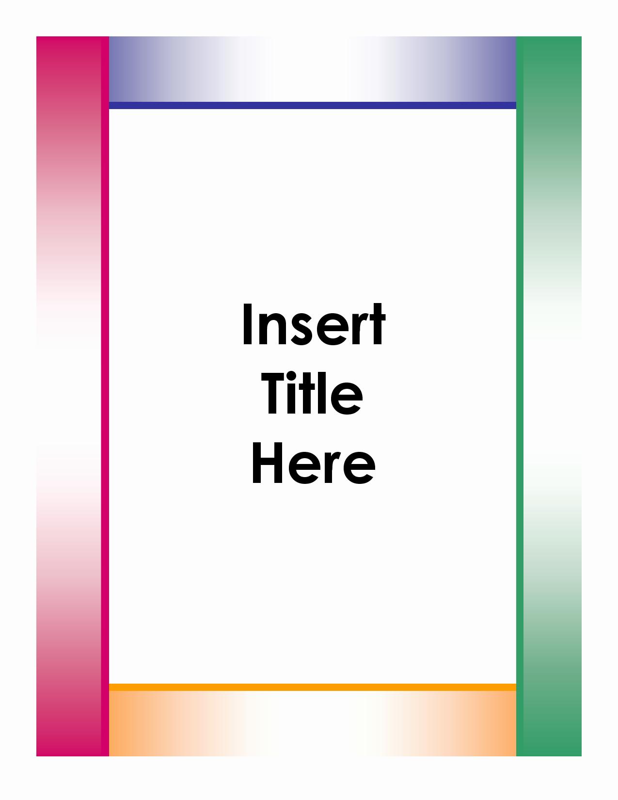 Portfolio Cover Page Template Elegant 6 Best Of Portfolio Cover Sheet Printable