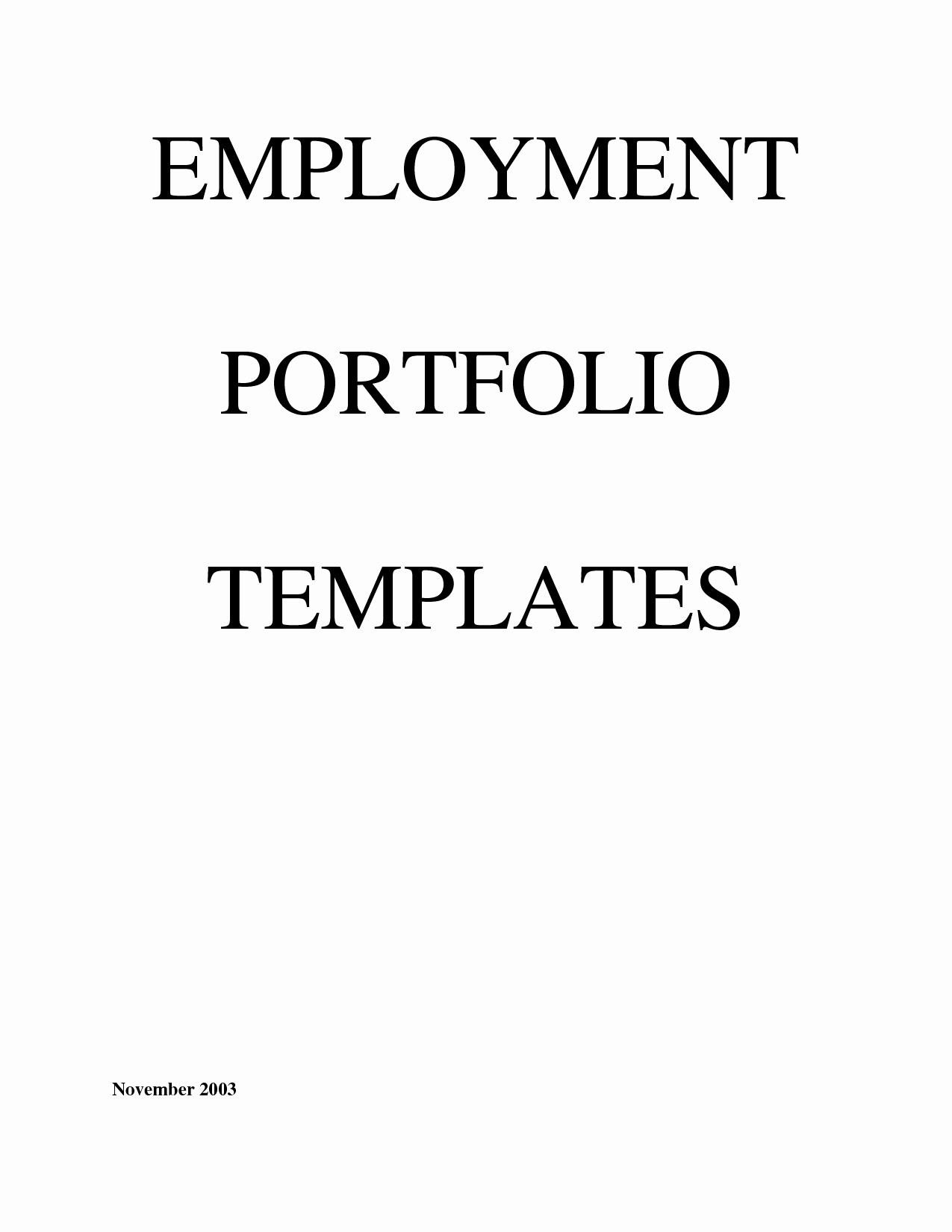 Portfolio Cover Page Template Elegant Best S Of Portfolio Cover Page Template Career