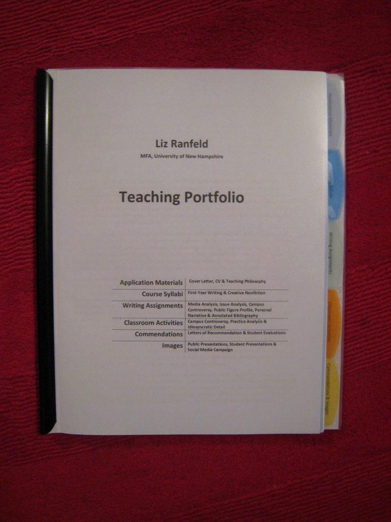 Portfolio Cover Page Template Elegant Elementary Teacher Portfolio Sample New Teaching Portfolio