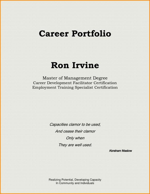 Portfolio Cover Page Template Luxury Teaching Portfolio Template