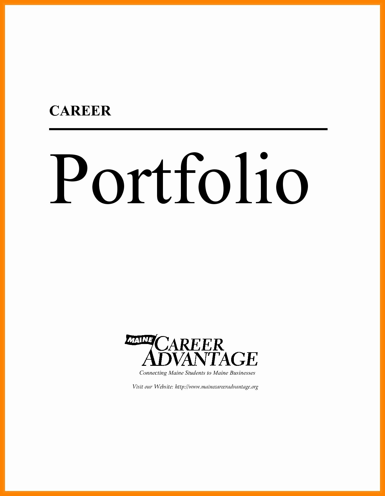 Portfolio Title Page Template Awesome Sample Career Portfolio for Students Valid Career