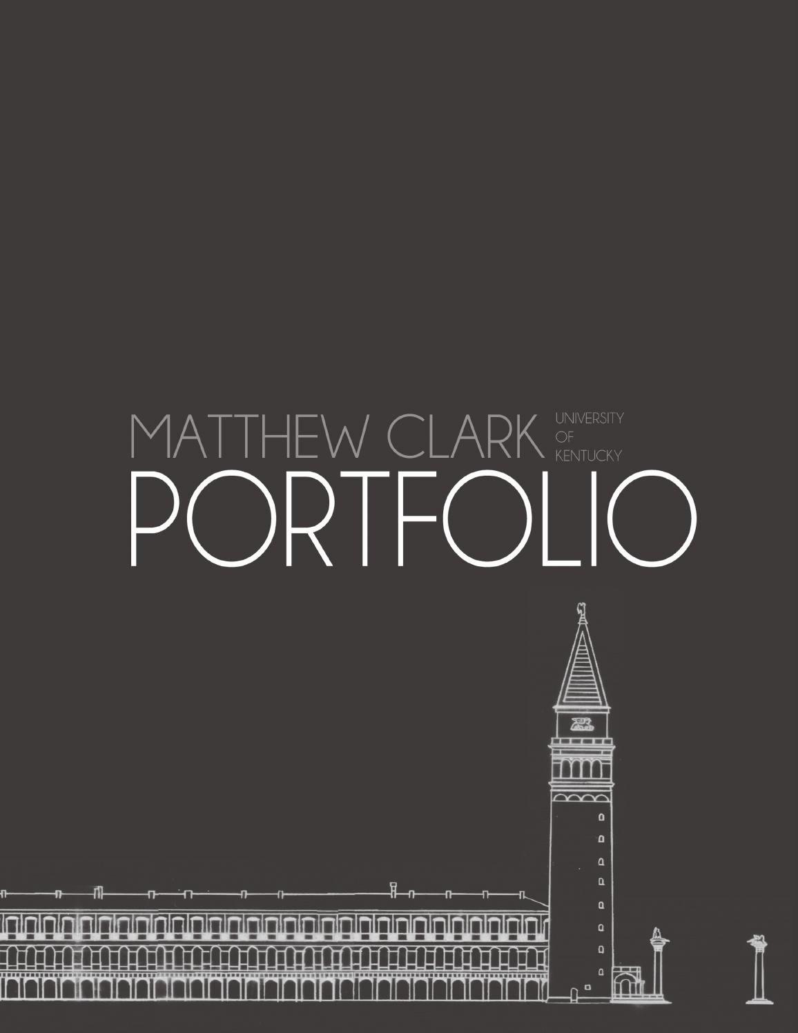 Portfolio Title Page Template Beautiful Matthew Clark Landscape Architecture Portfolio by Matthew