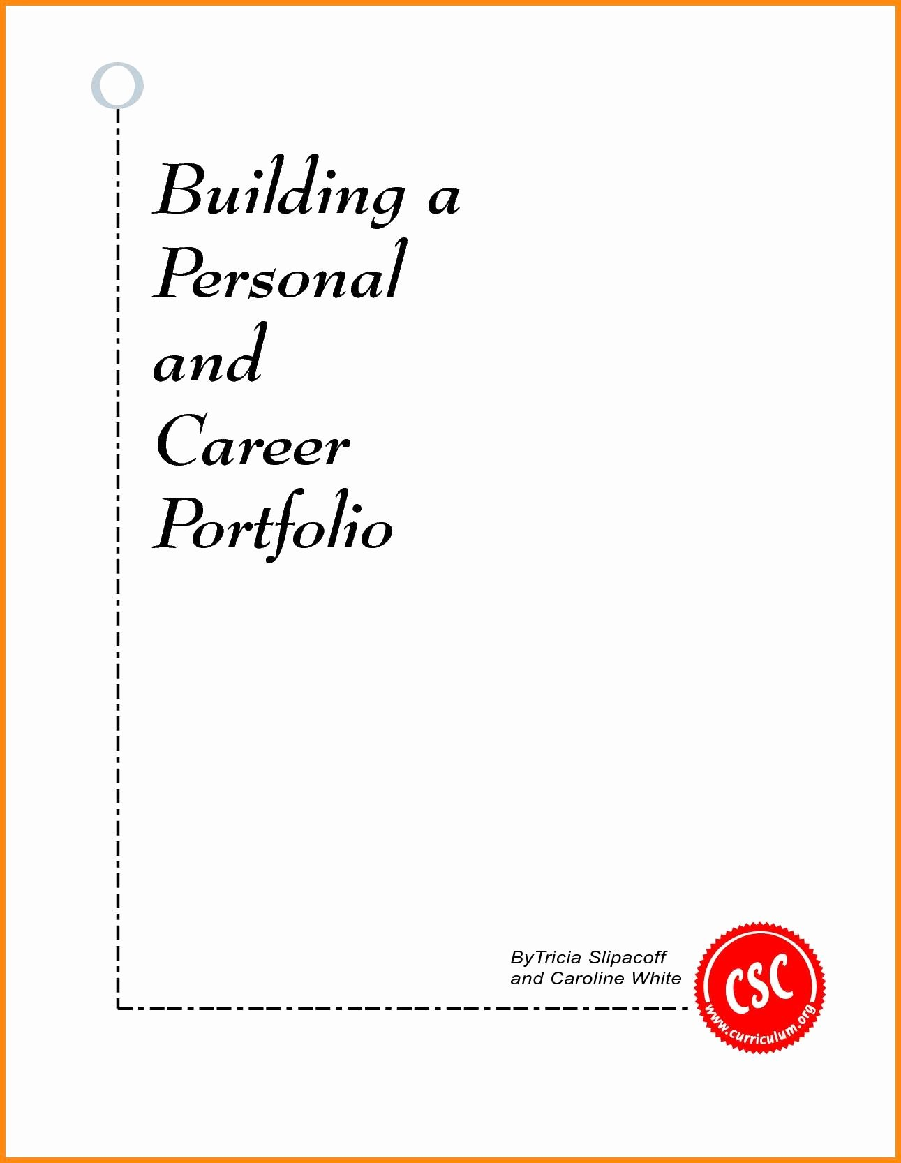 Portfolio Title Page Template Best Of Sample Cover Page for Career Portfolio Best 5 Career