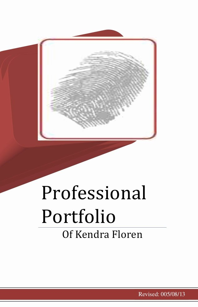 Portfolio Title Page Template Elegant Professional Portfolio Cover Page