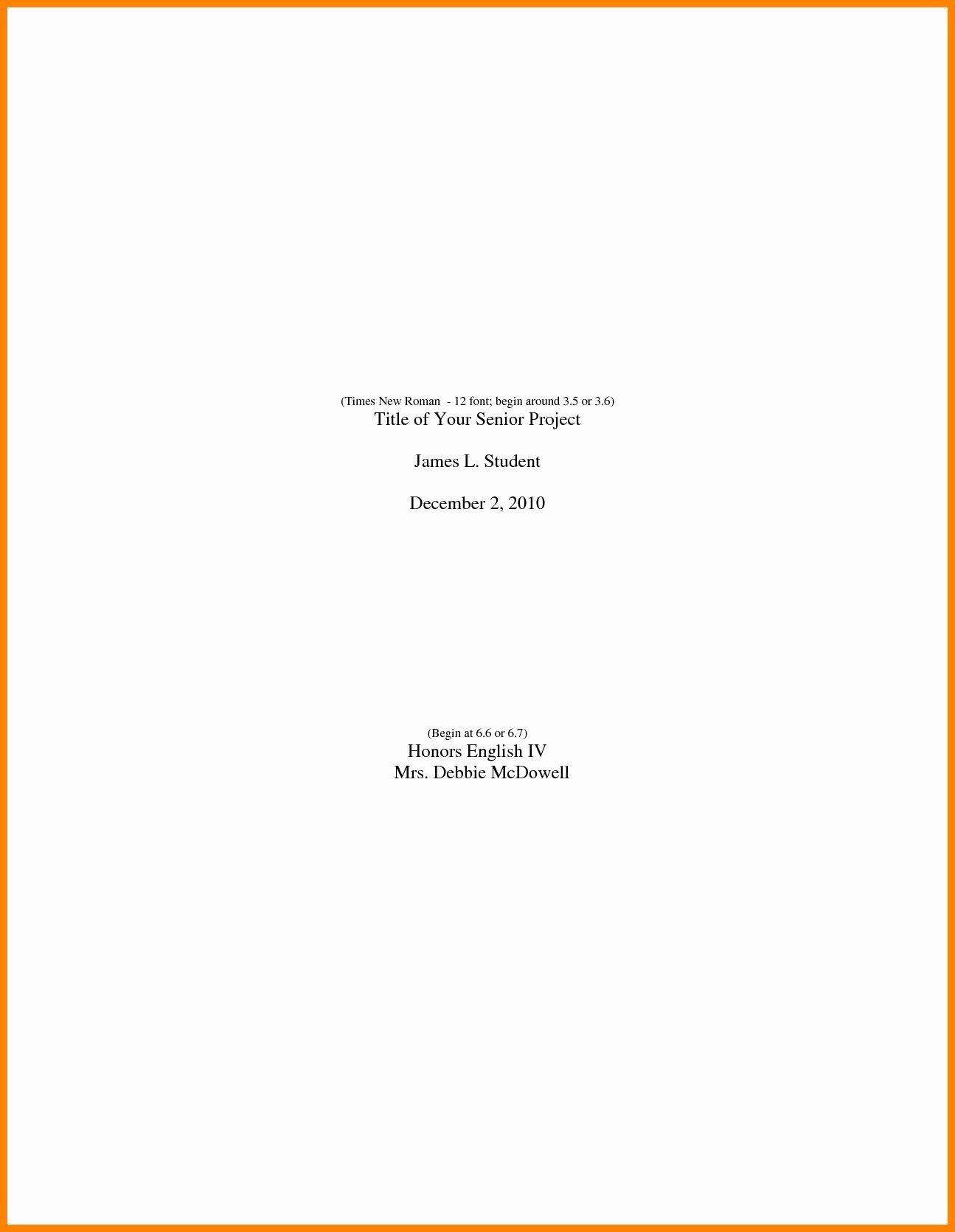Portfolio Title Page Template Fresh Sample Cover Page for Student Portfolio Save Sample Cover