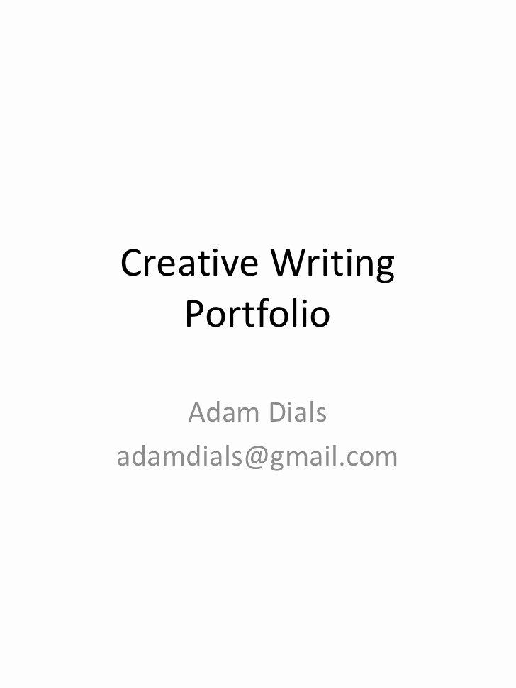 Portfolio Title Page Template Lovely Creative Writing Portfolio