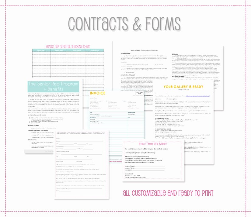Portrait Photography Contract Template Lovely the Savvy Grapher Senior Portrait Marketing by