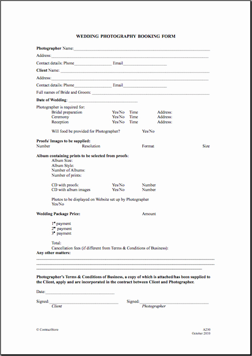 Portrait Photography Contract Template Luxury Free Printable Wedding Graphy Contract Template form