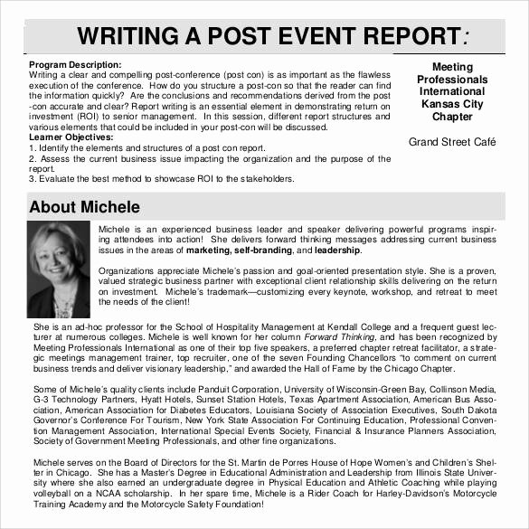 Post event Report Template Best Of 30 Sample Report Writing format Templates – Pdf
