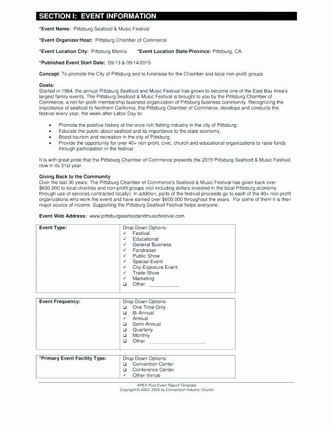 Post event Report Template New Post event Report Template – Crookedroad