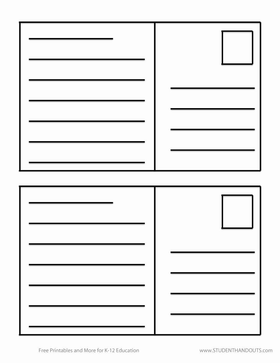 Postcard Template for Kids Awesome 40 Great Postcard Templates & Designs [word Pdf]