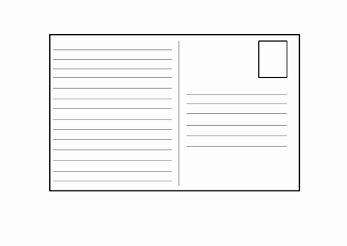 Postcard Template for Kids Beautiful Blank Postcard Template by 4877jessie Teaching Resources