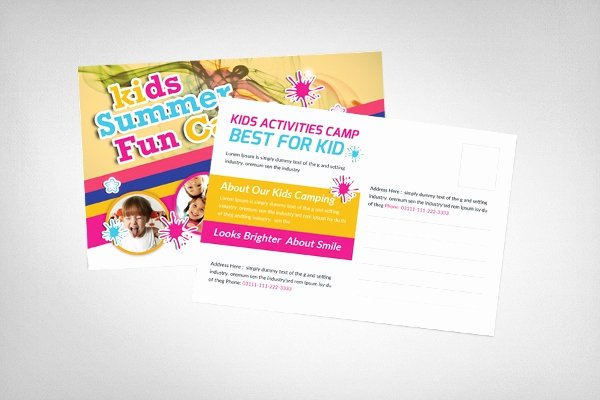 Postcard Template for Kids Beautiful Postcard Template 18 Free Psd Vector Eps Ai format