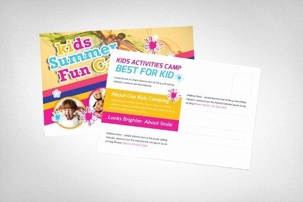 Postcard Template for Kids Beautiful Postcard Template 18 Free Psd Vector Eps Ai format