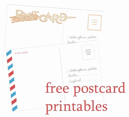 Postcard Template for Kids Elegant Make Do & Send Printable Postcards From Martha Stewart