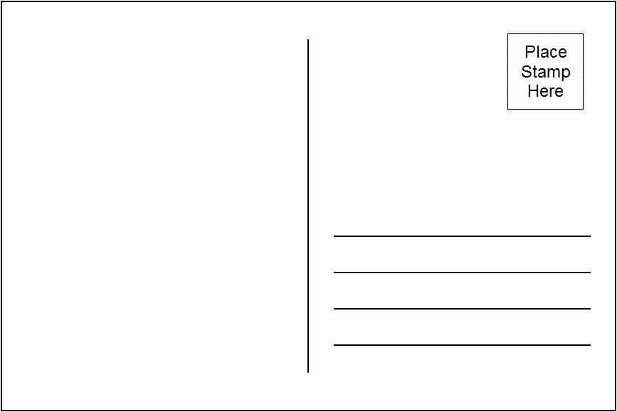 Postcard Template for Kids Inspirational 10 Best Of Printable Postcard Templates Free