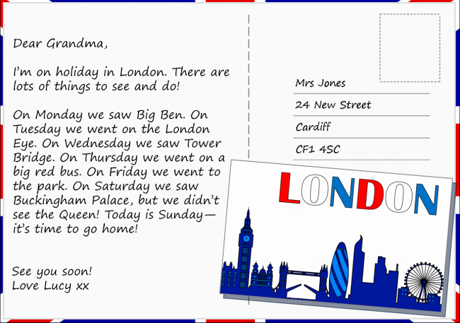 Postcard Template for Kids Inspirational Postcard From London Learnenglish Kids