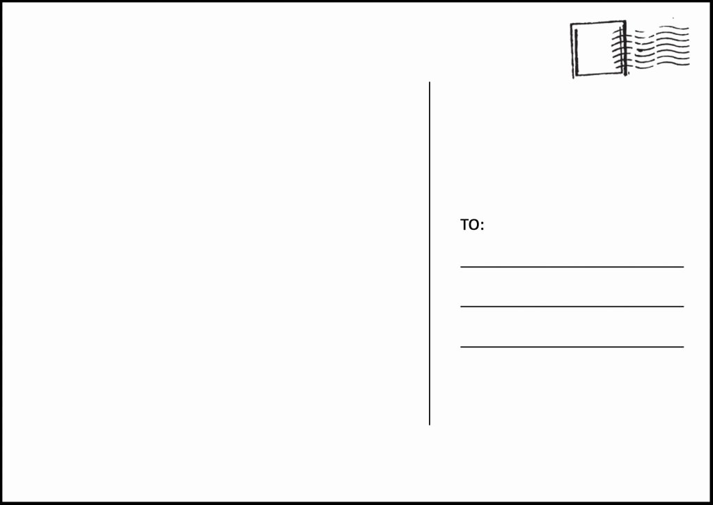 Postcard Template for Kids Luxury Card Etiquette How to Address A Postcard