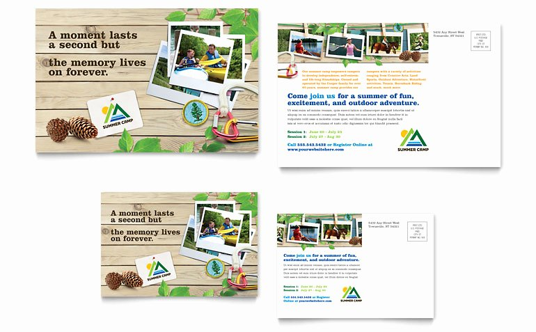 Postcard Template for Kids Luxury Kids Summer Camp Postcard Template Word & Publisher