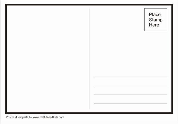Postcard Template for Kids New Postcard Template – Craft Ideas for Kids