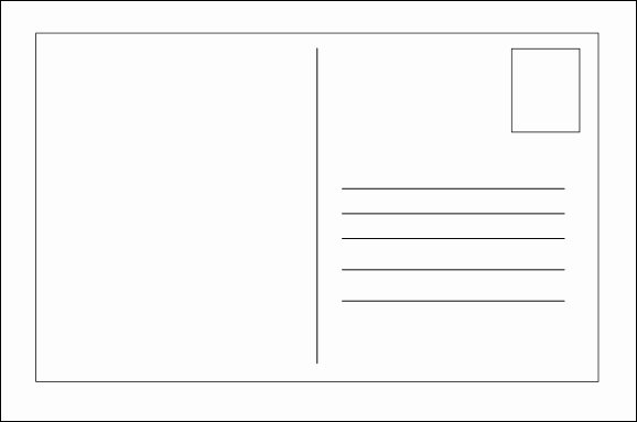 Postcard Template for Kids Unique Best S Of Kids Postcard Template Postcard Template