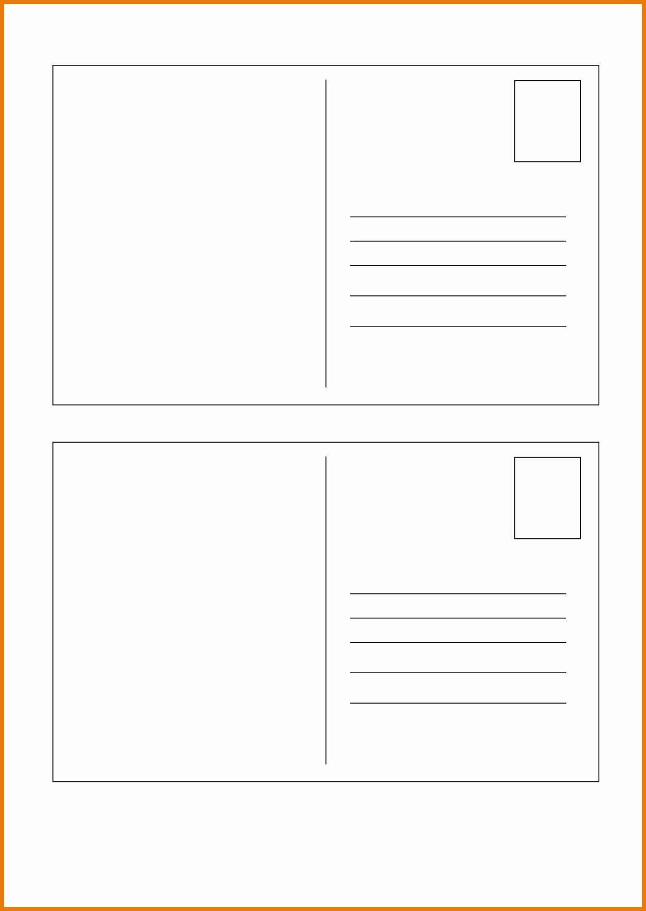 Postcard Template for Word Awesome Best Free Postcard Templates for Microsoft Word
