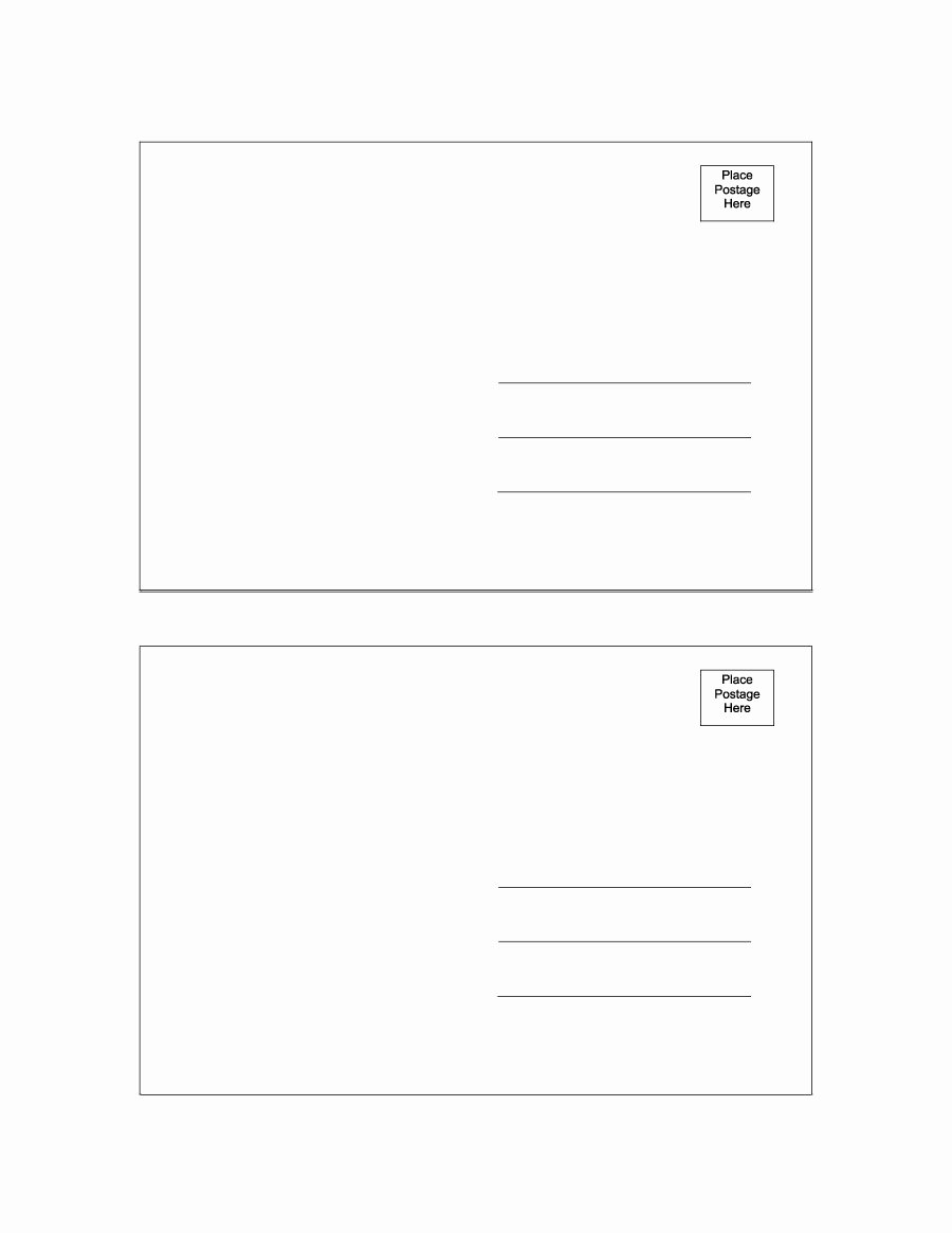 Postcard Template for Word Beautiful 40 Great Postcard Templates & Designs [word Pdf]