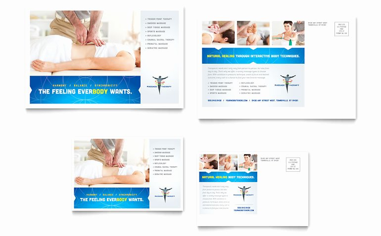 Postcard Template for Word Best Of Reflexology & Massage Postcard Template Word & Publisher