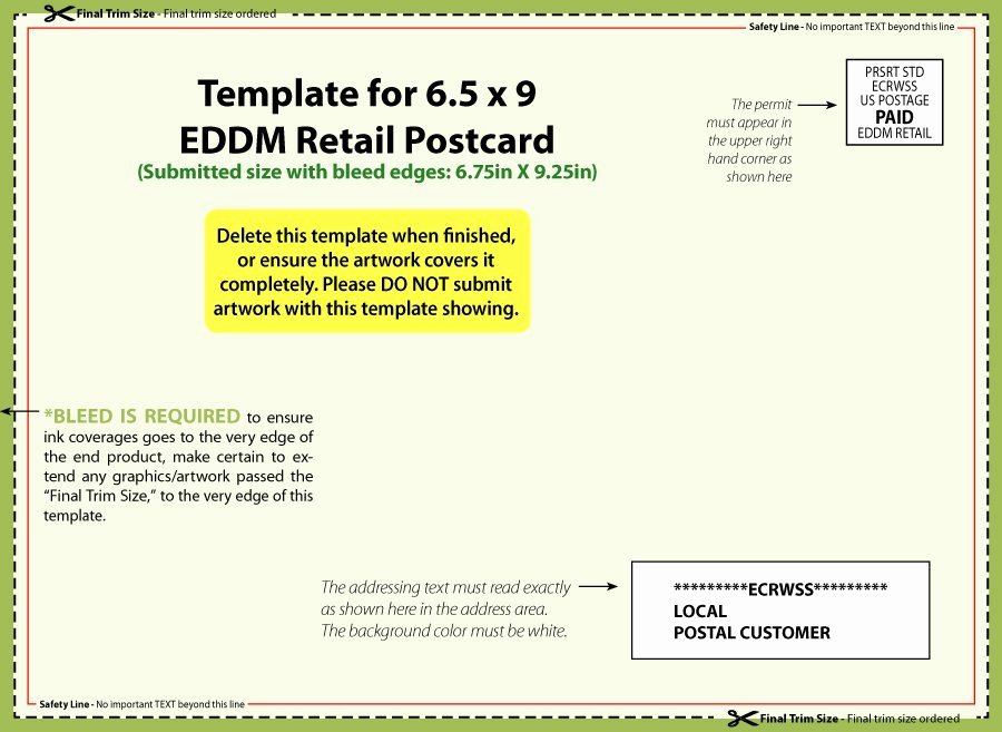 Postcard Template for Word Inspirational 40 Great Postcard Templates & Designs [word Pdf]