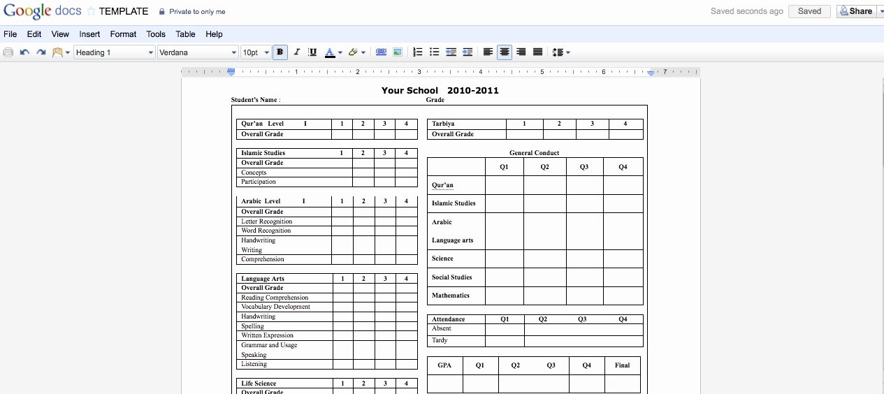 Postcard Template Google Docs Unique Collaborative Report Cards Using Google Docs