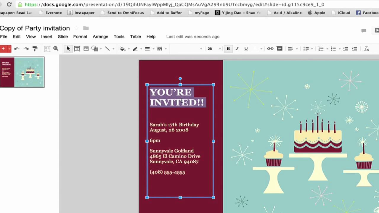 Postcard Template Google Docs Unique How to Create A Party Invitation In Google Documents
