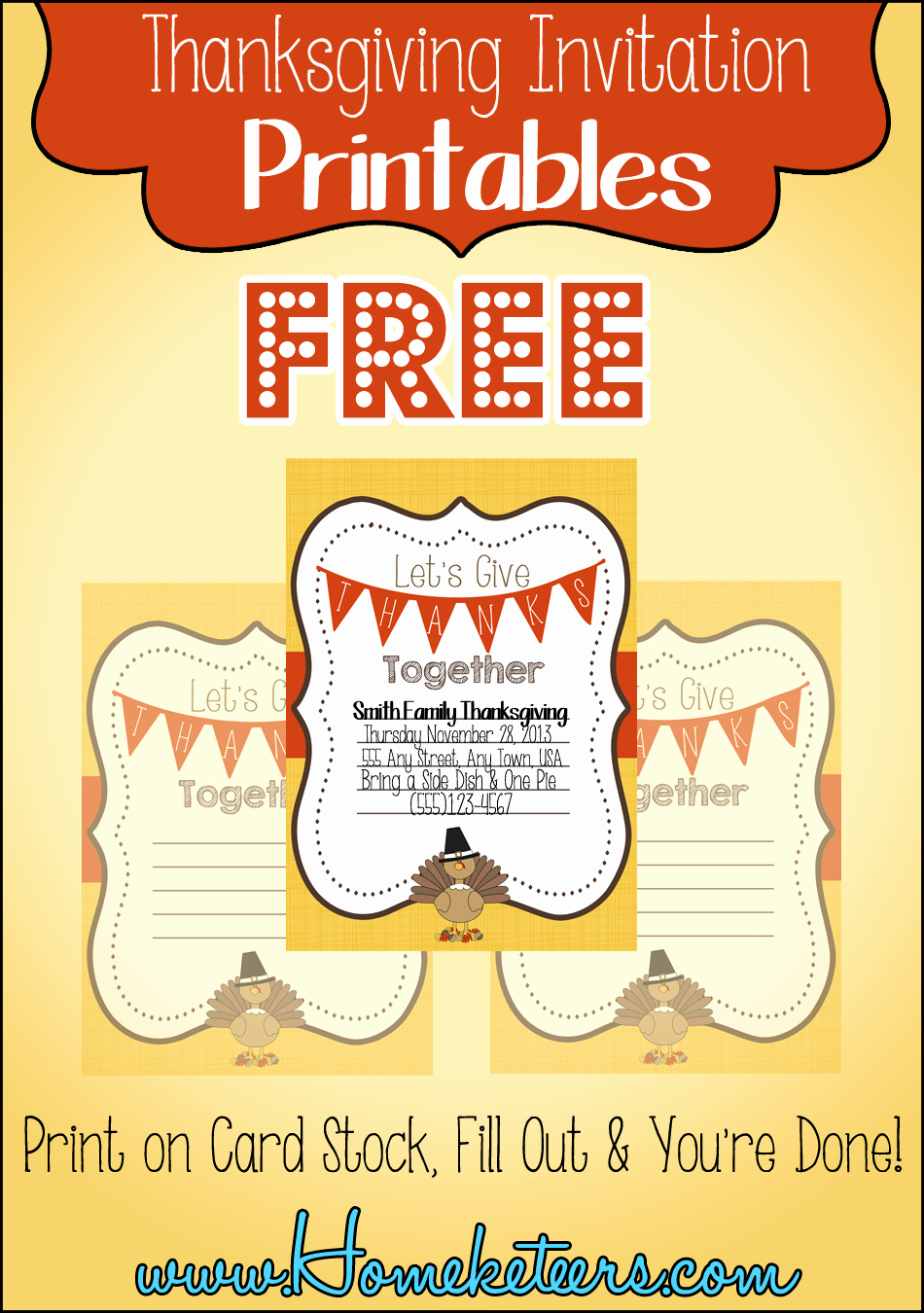 Potluck Invitation Template Free Awesome 9 Best Of Free Printable Thanksgiving Invitations