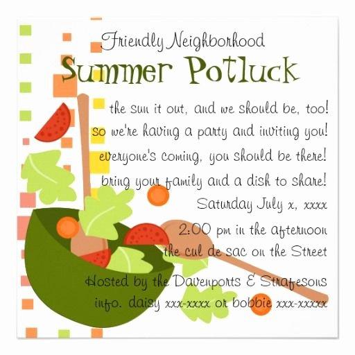 Potluck Invitation Template Free Awesome Cute Potluck Invitation Wording