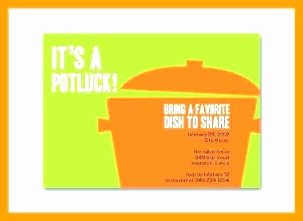 Potluck Invitation Template Free Awesome Potluck Email Template Fice Invitation Flyer – Ffshop