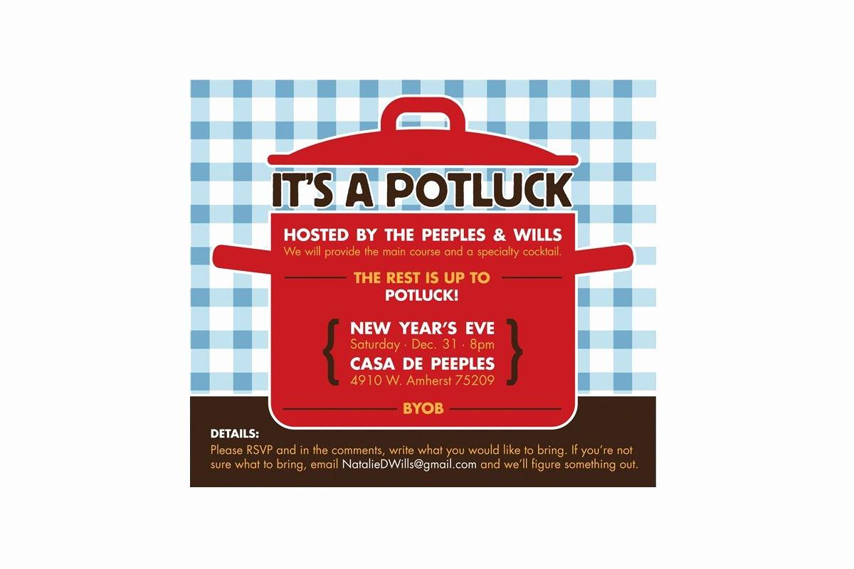 Potluck Invitation Template Free Awesome Potluck Invitation Template Free 2016