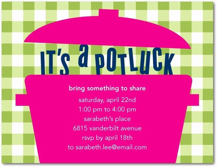 Potluck Invitation Template Free Awesome Potluck Party Invitation