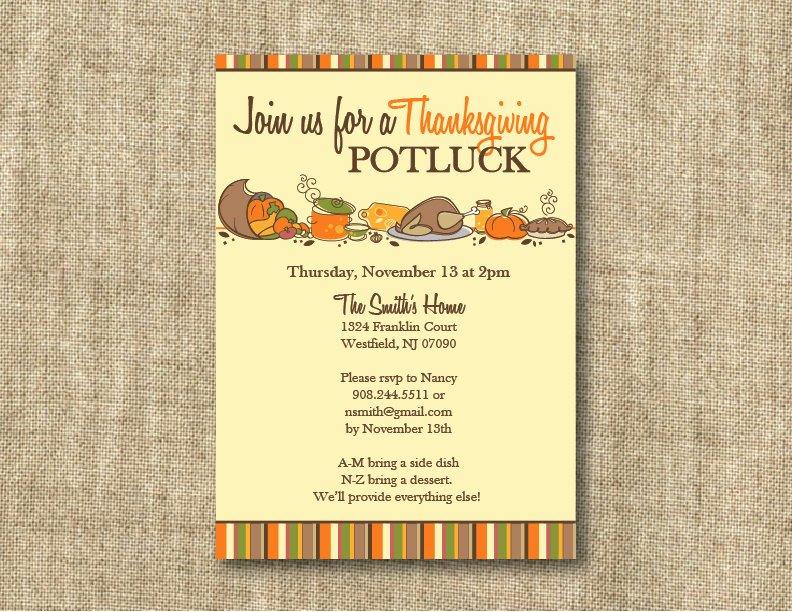 Potluck Invitation Template Free Awesome Thanksgiving Potluck Invitation Templates – Happy Easter