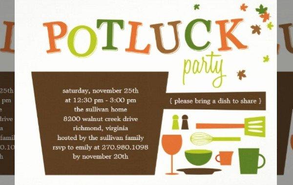 Potluck Invitation Template Free Elegant 16 Potluck Invitations Psd Ai Illustrator Download