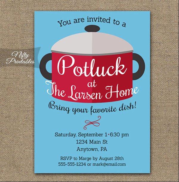 Potluck Invitation Template Free Fresh 10 Potluck Email Invitation Templates Design Templates