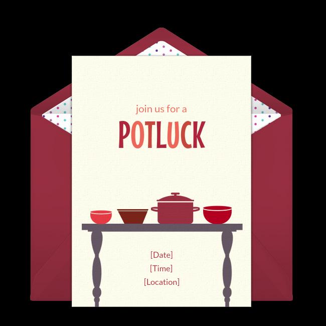 Potluck Invitation Template Free Lovely Free Potluck Invitations