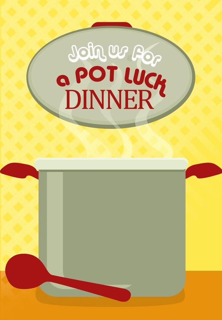 Potluck Invitation Template Free Unique Free Printable Pot Luck Dinner Invitation