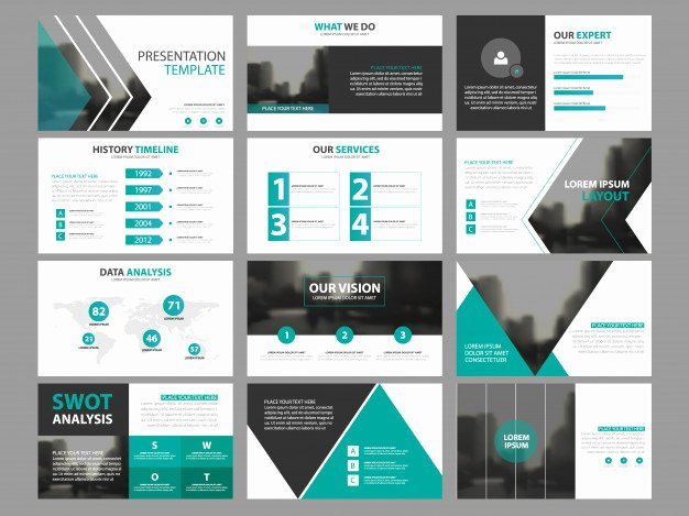 Power Point Brochure Template Awesome Business Presentation Infographic Elements Template Set