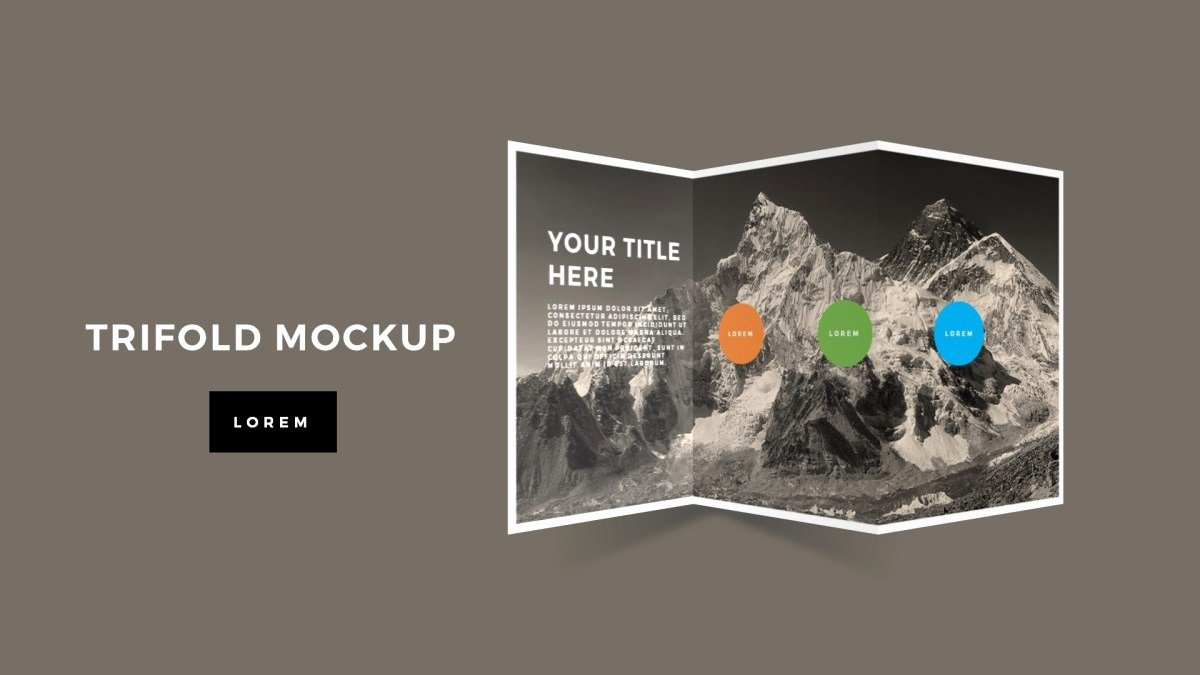 Power Point Brochure Template Lovely Tri Fold Brochure Mockup Powerpoint Template Premium