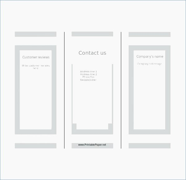 Power Point Brochure Template Unique Blank Tri Fold Brochure Template Powerpoint – Playitaway