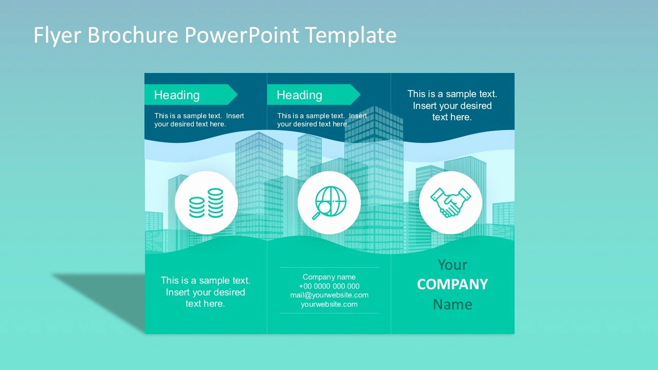Power Point Brochure Template Unique Flyer Brochure Powerpoint Template Slidemodel