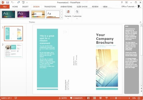 Power Point Brochure Template Unique Free Brochure Templates for Microsoft Powerpoint