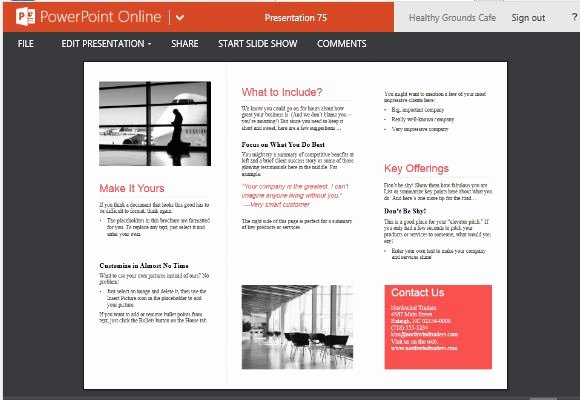 Power Point Brochure Template Unique Medical Brochure Template for Powerpoint Line