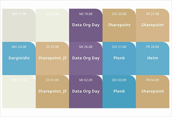 Powerpoint 2016 Calendar Template Awesome 9 Power Point Calendar Templates – Samples Examples