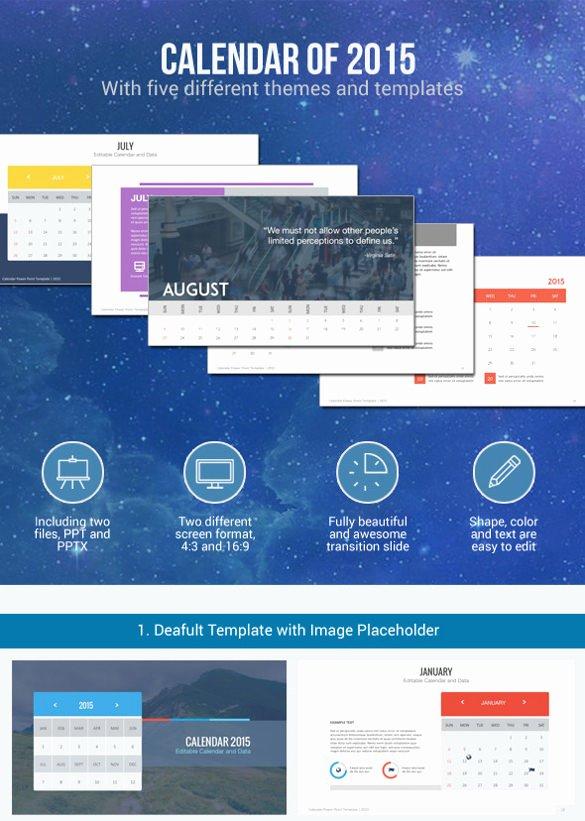 Powerpoint 2016 Calendar Template Elegant 7 Powerpoint Calendar Templates Ppt Pptx